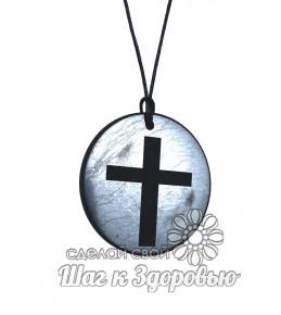 Кулон из шунгита Крест 50 мм