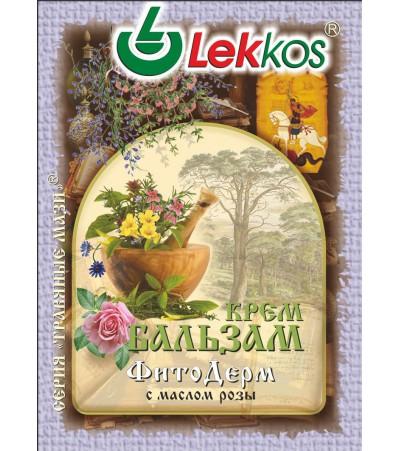 Крем-бальзам ЛЕККОС фито-дерм при псориазе, экземе 10 гр.