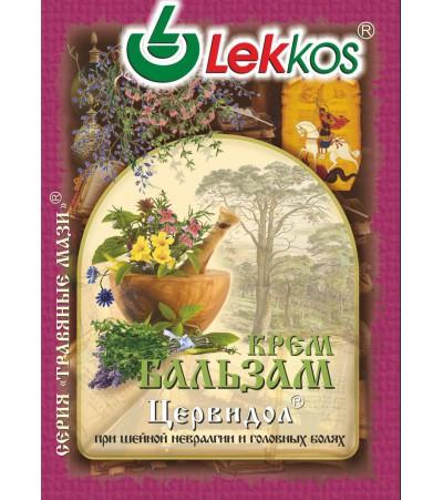 Крем-бальзам ЛЕККОС цервидол при шейной невралгии 10 гр.