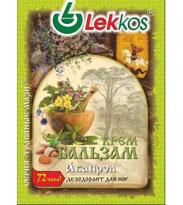 Крем-бальзам ЛЕККОС акапрол дезодорант для ніг 10 гр.
