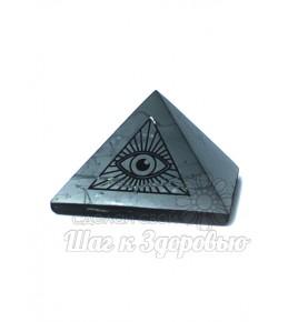 Пирамида из шунгита полированная Всевидящее Око