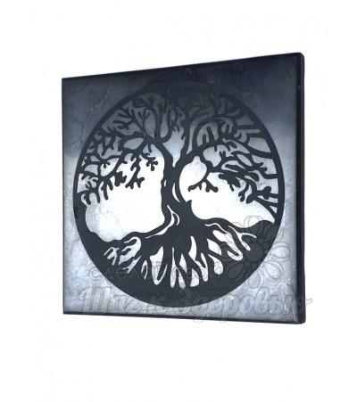 Плитка из шунгита полированная Дерево Жизни