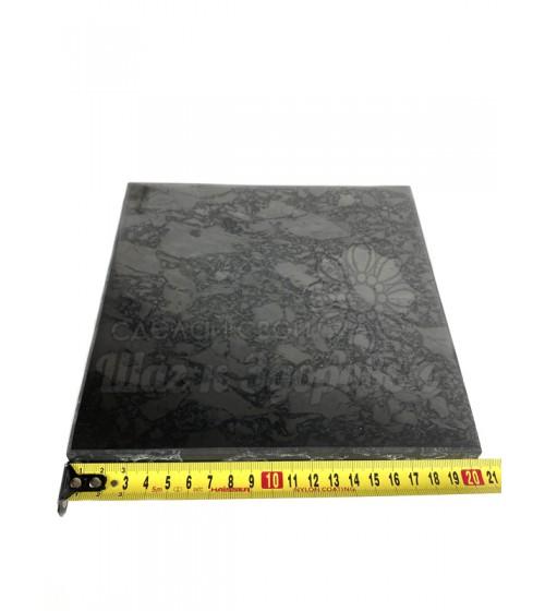 Плитка из шунгита полированная 20х20 см