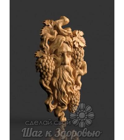 Барельеф Бог виноделов Дионис