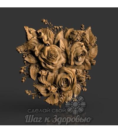 Барельеф Букет роз