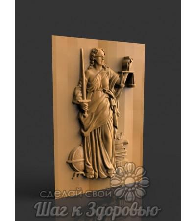 Барельеф Фемида правосудия