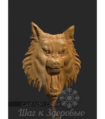 Барельеф Голова волка