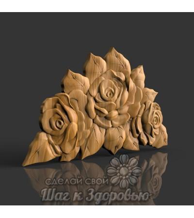 Барельеф розы 3