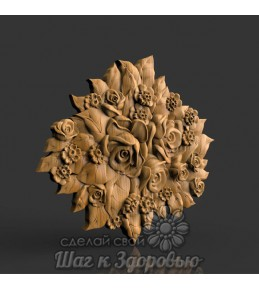 Барельеф Розы 4