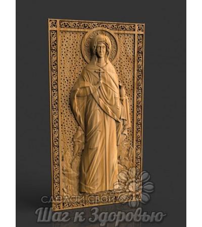 Мученица Анастасия Римская, икона резная из дерева