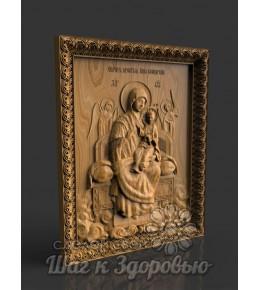 """Цілюща Ікона Божої Матері """"Всецариця"""", різьблена з дерева"""