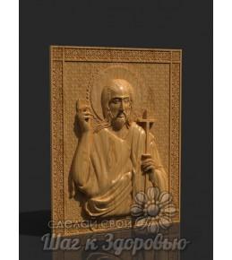 """Чудотворная икона """"Святой Иоанн Креститель"""",резная икона из дерева"""