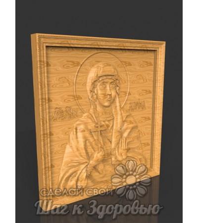 """Именная икона Святая """"Марина"""", резная из дерева"""