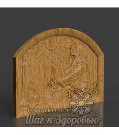 """Икона Спасителя """"Моление о Чаше"""", резная из дерева"""