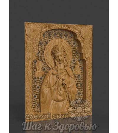 Икона Святой мученицы Надежды, резная из дерева