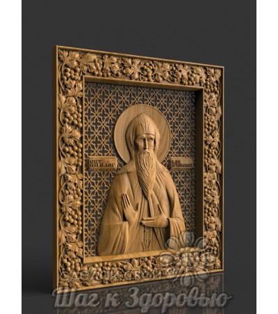 Именная икона Святой князь Олег, резная из дерева 2
