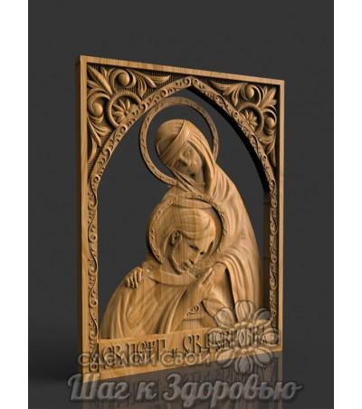 Икона Святые Петр и Феврония, резная из дерева