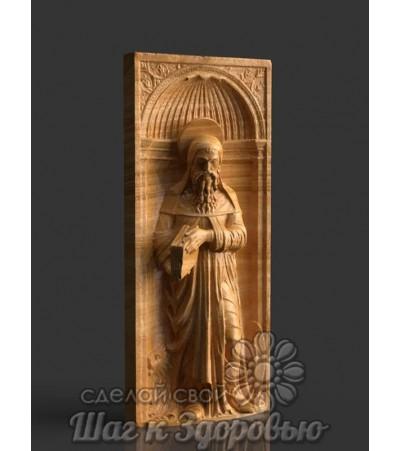 Пюхтицкая икона Божией Матери, резная из дерева