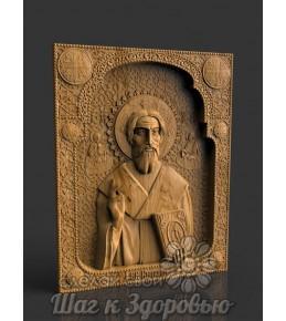 Чудотворная икона священномученику Киприану, резная из дерева