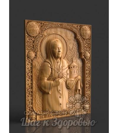 Матрона Святая Блаженная Московская,Икона резная из дерева 2