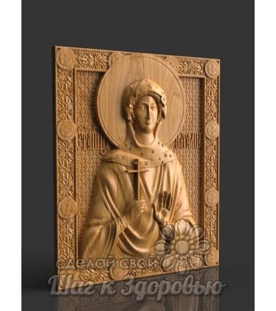 Святая мученица Наталия (Наталья), Икона резная из дерева
