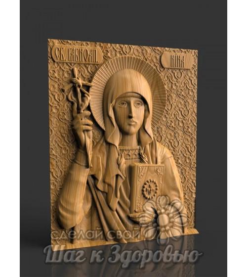 Святая равноапостольная Нина, Икона резная из дерева