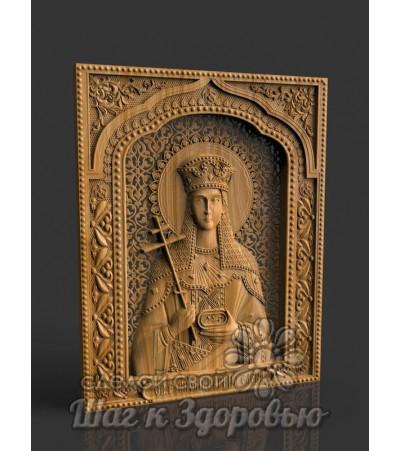 Небесная Защитница семьи и отношений Святая Елена Равноапостольная, икона резная из дерева (3)