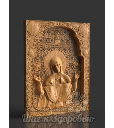 Мерная икона святой Софии, матери святых Веры, Надежды и Любови, резная из дерева