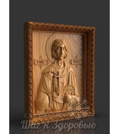 Святой мученик Валерий Севастийский, Икона резная из дерева