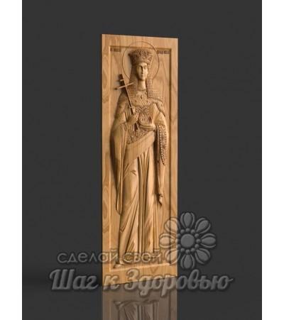 Небесная Защитница семьи и отношений Святая Елена Равноапостольная, икона резная из дерева (2)