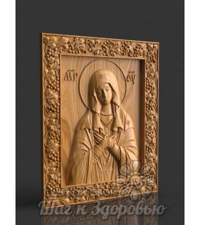 """Икона Пресвятой Богородицы """"Умиление"""", резная из дерева"""