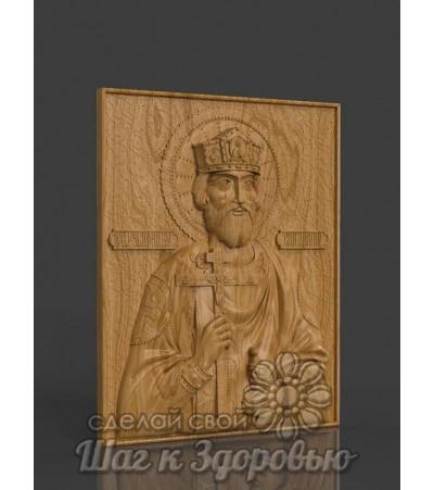 Икона Святого князя Владимира, резная из дерева
