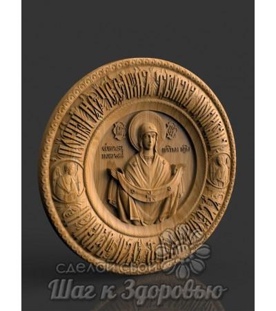 Покров Божией Матери, Покров Пресвятой Богородицы резная икона из дерева