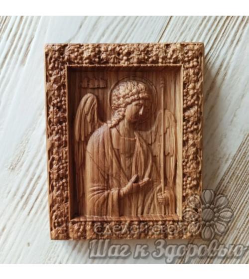 """Чудотворная икона """" Архангела Михаила """", резная из дерева"""