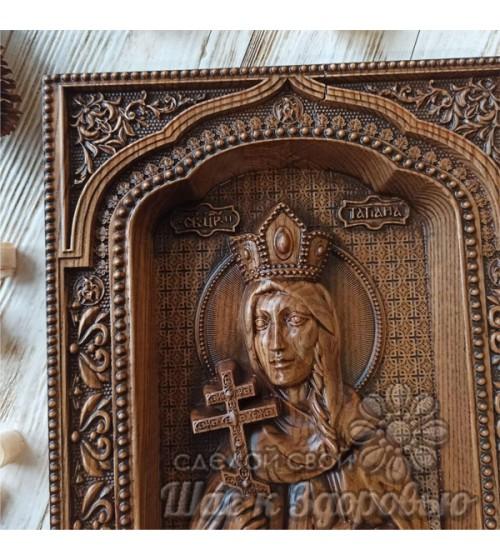 """Серия """"Царская семья"""", Икона резная из дерева """"Татьяна 2"""""""