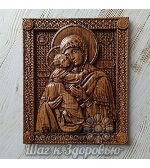 Владимирская икона Божией Матери, резная из дерева. 3 (1)
