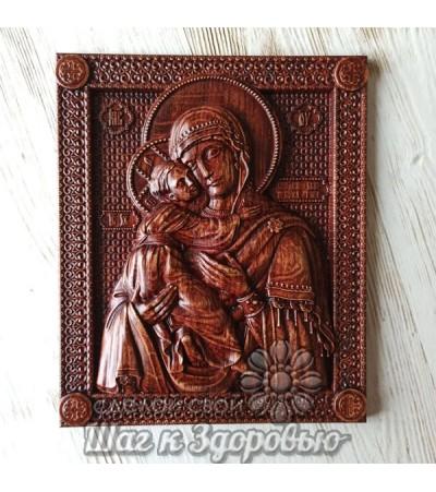 Владимирская икона Божией Матери, резная из дерева 3 (2)