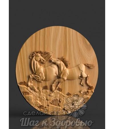 Панно Два коня