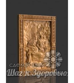 """Объемная картина """"Тридцать Три Богатыря"""" (33 Богатыря) из дерева"""