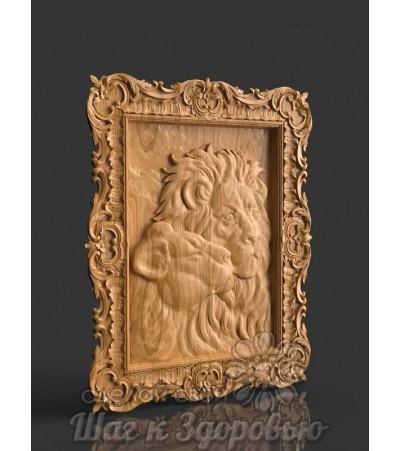 Картина Лев и львица